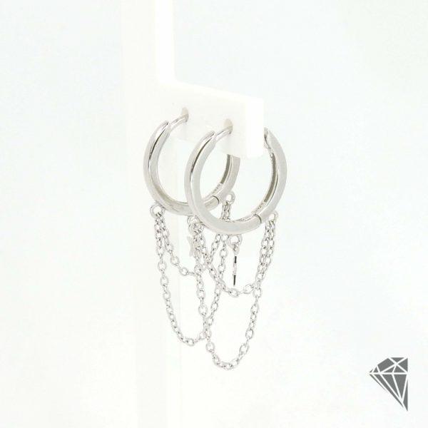 pendientes-plata-estrella-con-cadenas
