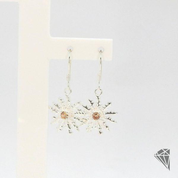 pendientes-plata-largos-eguzkilore-con-piedra-champan-15mm