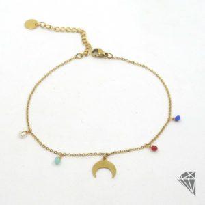 tobillera-acero-dorado-colgantes-multicolor