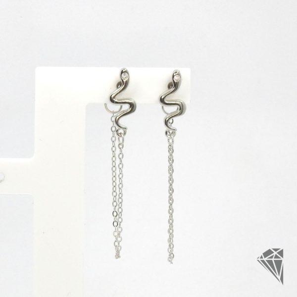 pendientes-plata-serpiente-cadena