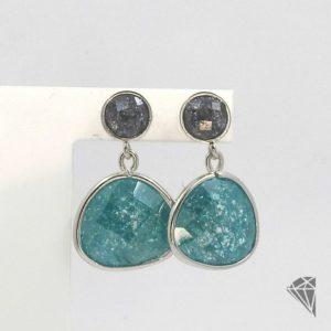 pendientes-plata-piedras-verde-azulado