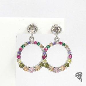 pendientes-plata-circulo-multicolor